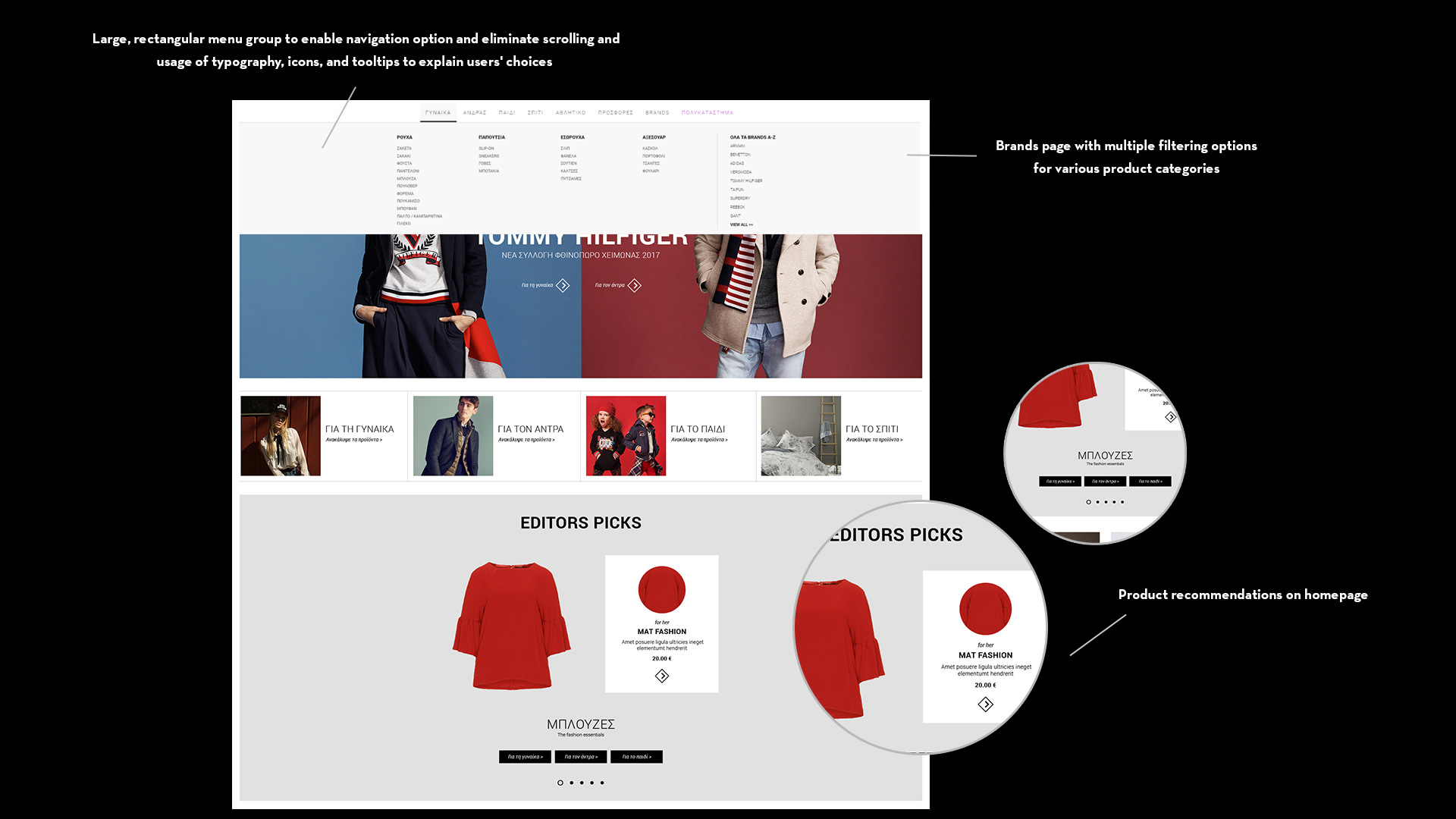New Magento eShop for Politikos Department Store by COMMA